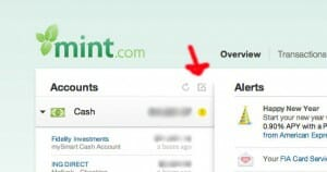 Adding accounts to Mint